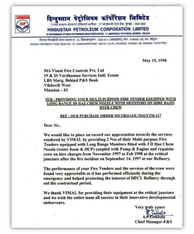 vimal fire controls pvt  ltd